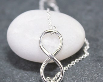 INFINITY CHARM Bracelet, Argentium, Silver, White, 930, Eternity