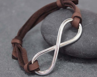 MASCULINITY INFINITY Bracelet, Adjustable, Leather, Bracelet, for men, father's day, masculine