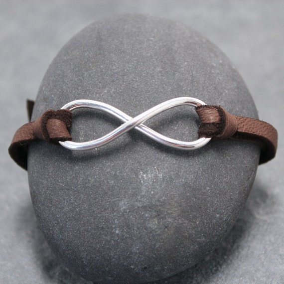 INFINITY LEATHER BRACELET, for men, boys