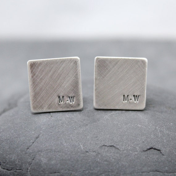SPACE initial Cufflinks, Cuff links for men
