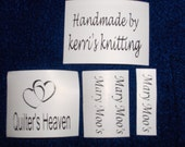 SEW in or IRON on washable clothing labels