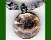 Kissed by the Sweet Flowers in May (Purple Glass Flower Pendant and Earrings Set)