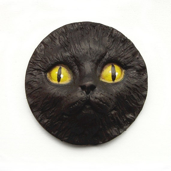 Doll With Cat Head Black Cat Art Doll Face Cab