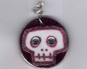 Cute and Sparkly Skull Pendant