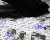 Waterproof Shoebag Romantic Travel All Cotton Shoe Bag Europe Landmarks Sepia Green And Violet