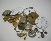 steampunk watch parts antique mixed media collage destash