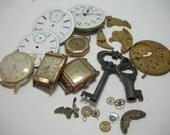 Antique watch parts for mixed media collage artwork steampunk destash