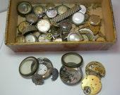 vintage watches and parts steampunk mixed media artwork collage destash