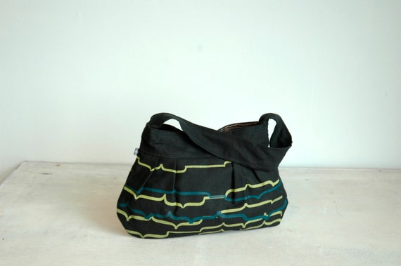 Last Chance Clearance SALE Black Natalie Bag with Mesa Print