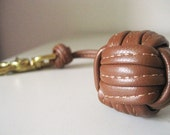 RESERVED Sailor's Knot Tobacco Leather Key Fob