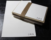 Personalized Letterpress Stationery- Goudy