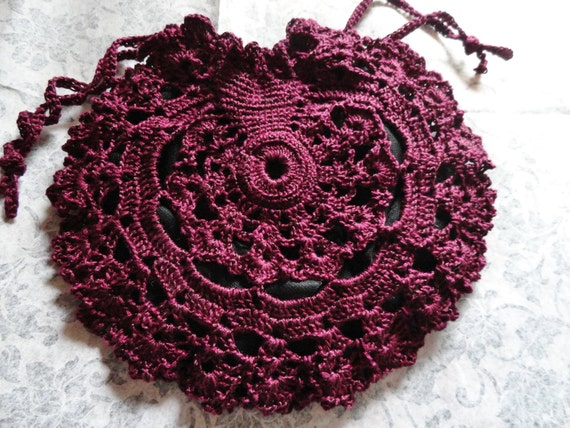Reserved Listing Do not purchase this listing  Plum  Lace Victorian Purse