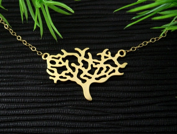Tree on GOLD Filled Necklace