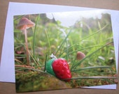 Strawberry Postcard with envelope