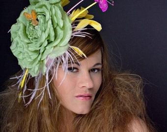 Kentucky Derby Hat - Fascinator - Hat Headpiece - Rites of Spring