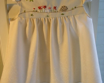 Embroidered Toddlers Dress, Size 6 months