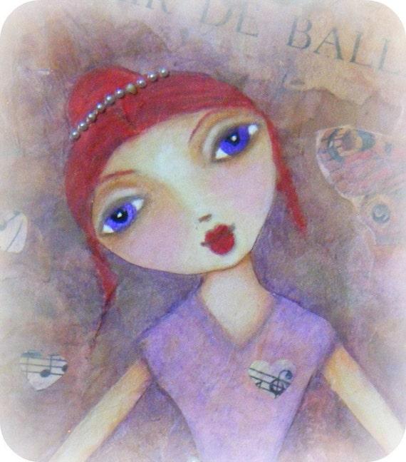 Life is a Dance - Original Mixed Media Collage Art - Ballerina