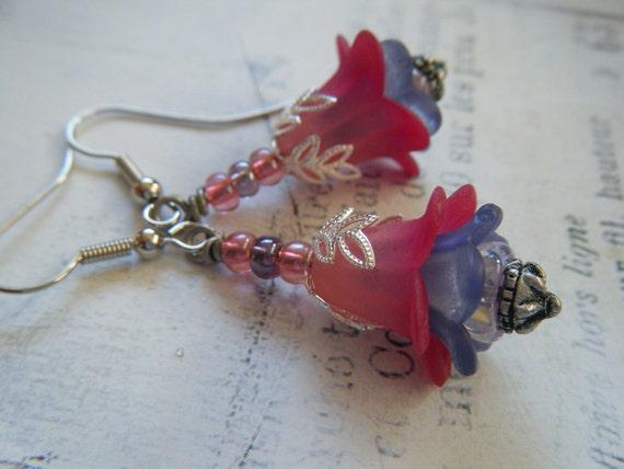 Victorian Flower Faerie Earrings