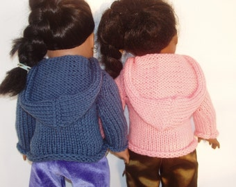 Knit PDF Pattern - Doll Hoodie Sweater