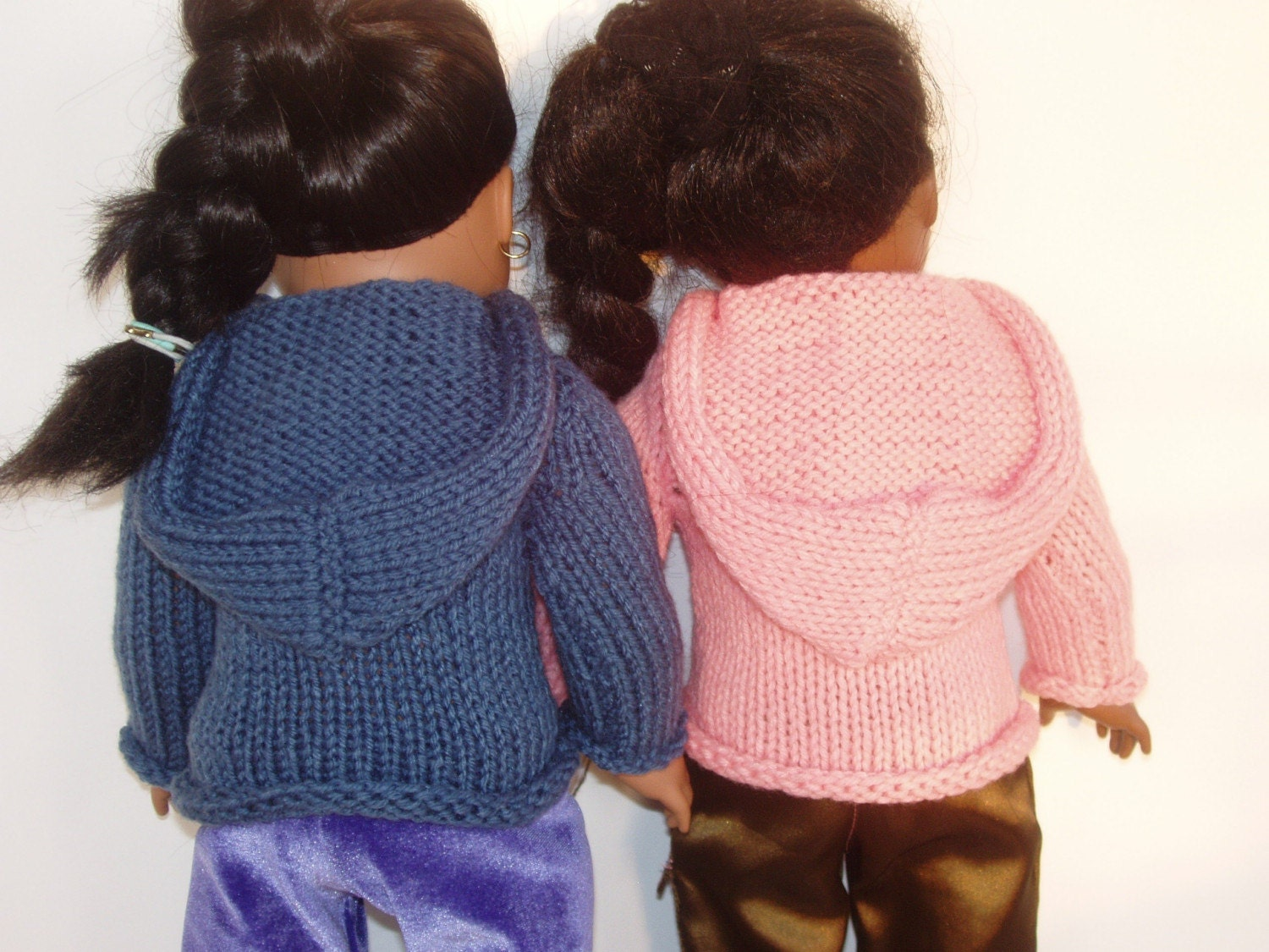 Knitting Pattern Doll Cardigan : Knit PDF Pattern Doll Hoodie Sweater