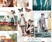 Beach Babes - digitally enhanced collage sheet