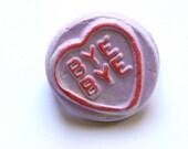 Purple Loveheart Brooch