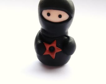 Little Black Ninja with Throwing Star