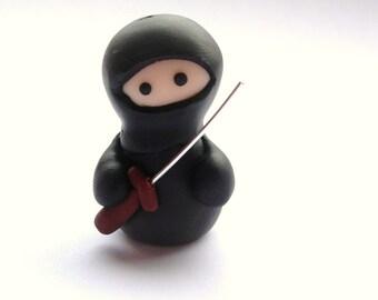 Little Black Ninja with Sword