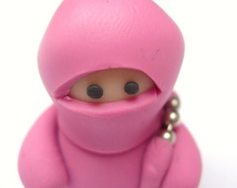 Little Dusky Pink Ninja with Nunchucks