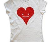 Goofy Heart Tshirt cute Womens Small