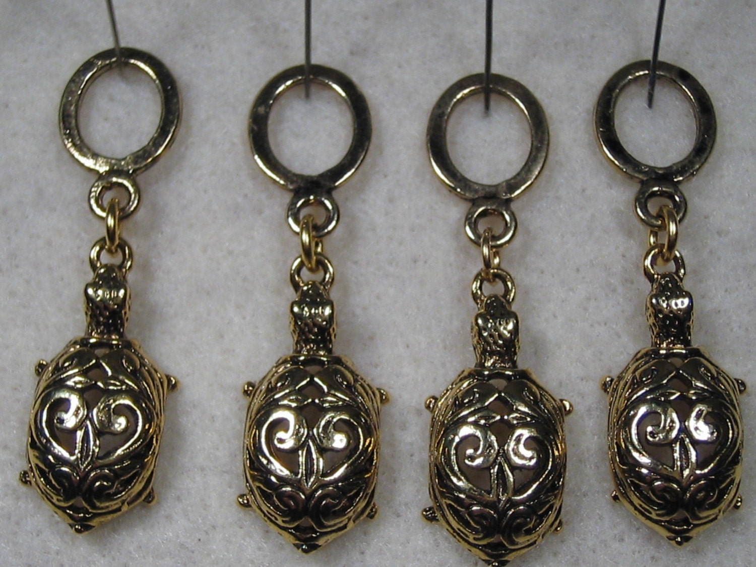 decorative turtle stitch markers