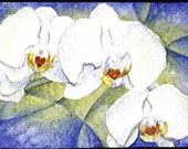 Orchid ACEO - LRutherford Original Miniature Watercolour 3