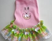 Dog Dress Bunny Tank Dog Dress With A Crystal Bunny Design Dog Clothes Easter Dress