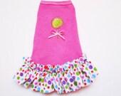 Dog Dress: Summer Lollipop Pink and Flip Flop Dress reserved for maggie