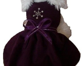 Holiday Dog Dress: Christmas Dress Purple Passion