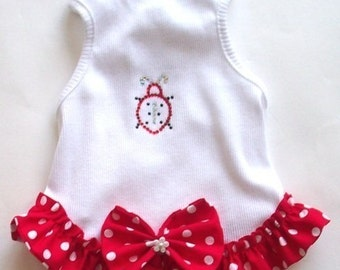 Dog Clothes Lady Bug Summer Dog Frock Dog Dress All Sizes