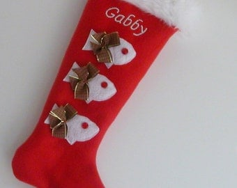 Christmas Stocking: Custom With Your Cat Name Home Living Pets Dog