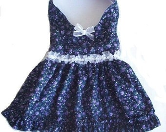 Dog Clothes Royal Floral Dress