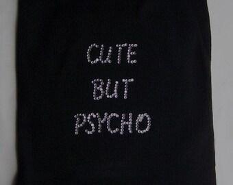 Dog Clothes Dog Shirt Cute But Psycho Tank