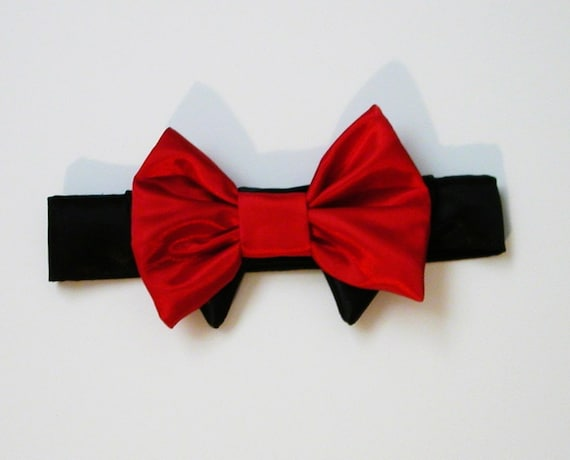 red dog bow tie: Dog Bow Tie Red and Black