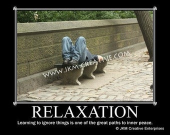 RELAXATION Motivational Poster 11 x 14