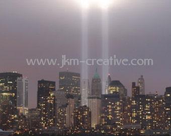 WTC 2011 LIGHT TRIBUTE  8 x 10 Original JuliArtz Photographic Print