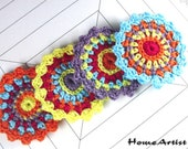 Crochet Applique in Spring Shades