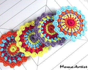Crochet Applique in Spring Shades
