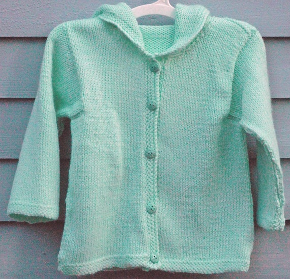 Girl, size 2/3, Pale Green Hoodie.