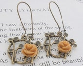 Butterscotch Floral Earrings