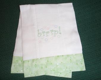 "Baby Burp Cloth ""brrrp"""