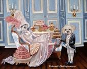 Marie Antoinette Dog Art Print