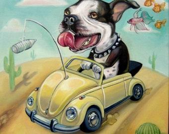 Commissioned Oil Painting Pet Portrait