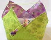Dragon Flies Medium Lotus Bag